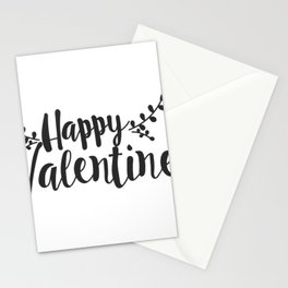 Hand Lettering Happy Valentines Stationery Cards