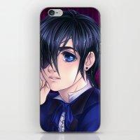 kuroshitsuji iPhone & iPod Skins featuring Kuroshitsuji Ciel Portait by StephanieIllustrations