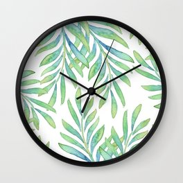 Tropical Palm Leaf 02 Wall Clock