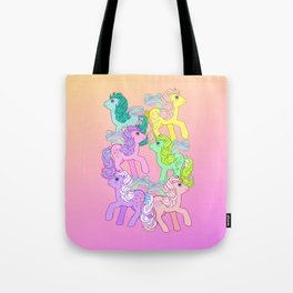 g1 my little pony year 4 Flutter Ponies Tote Bag