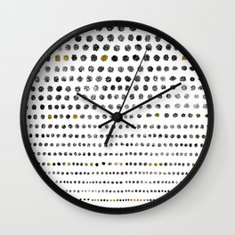 Black Dots II Wall Clock