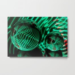 Green strips in the glass Metal Print