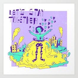 The Blob X Al Green Art Print