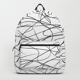 Hand Drawn Scribbles (black/white) Backpack