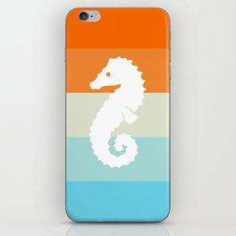 Out At Sea Series - Seahorse Sunset iPhone Skin