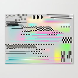 Glitch art effect Canvas Print
