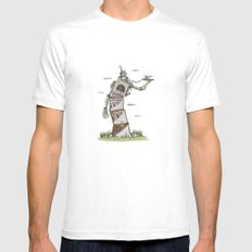 Crooked Mens Fitted Tee White MEDIUM