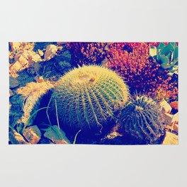 Vintage pop garden succulent and cactus Rug