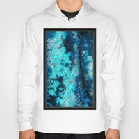 agate Hoodies featuring Blue Agate by DeepFlux