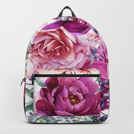 Roses and Peonies Collage Backpack