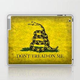 Gadsden Don't Tread On Me Flag - Worn Grungy Laptop & iPad Skin
