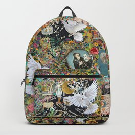 Leopard confetti world peace Backpack