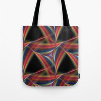 triangles Tote Bags featuring Triangles by David Zydd - Colorful Mandalas & Abstrac