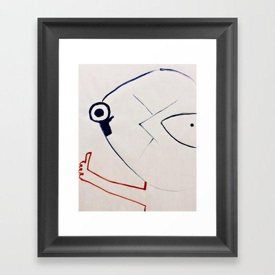 Hitchhiker Framed Art Print