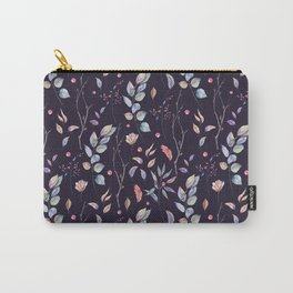 Watercolor natural pattern with twigs Carry-All Pouch