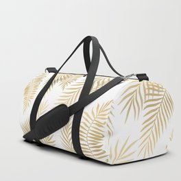 Gold palm leaves Duffle Bag