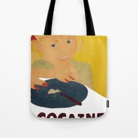 cocaine Tote Bags featuring Sweet sweet cocaine... by Albertine et Gedeon