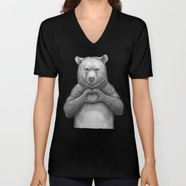 Bear with love Unisex V-Neck