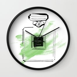 Green Perfume Wall Clock