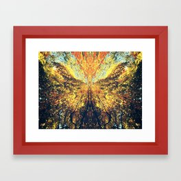 Fall Butterfly Framed Art Print