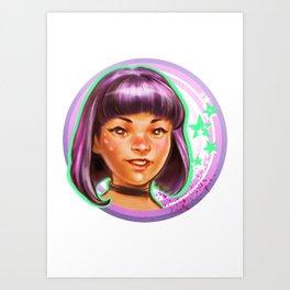 Kawaii Violet Art Print