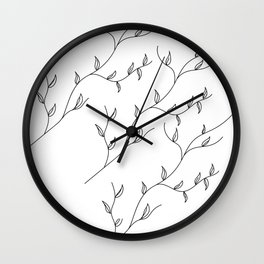 show-off - leaves Wall Clock
