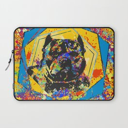 American Bully Abstract Mixed Media Laptop Sleeve