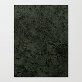 Green Silk Moire Pattern Canvas Print