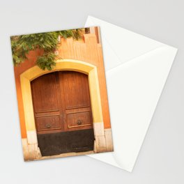 Colourful door in Palma de Mallorca - travel photography  Stationery Cards