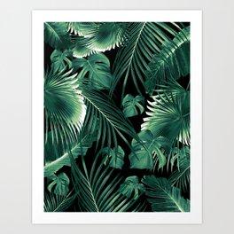 Tropical Jungle Leaves Dream #6 #tropical #decor #art #society6 Art Print