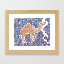 Kaleidoscope Camel Framed Art Print