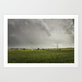 Lighting Strike Art Print