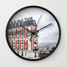 Paris Postcards. Wall Clock