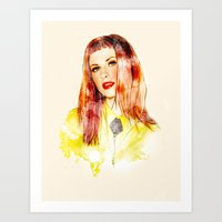 hayley williams Art Prints featuring Hayley Williams by jassinta