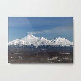 Avachinsky Volcano and Kozelsky Volcano, panorama view of volcanoes of Kamchatka Peninsula Metal Print