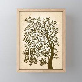 Fruit of the Spirit (Monotone) Framed Mini Art Print