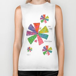 You Are Rainbow flower illustration floral pattern colorful abstract painting peaceful equality Biker Tank