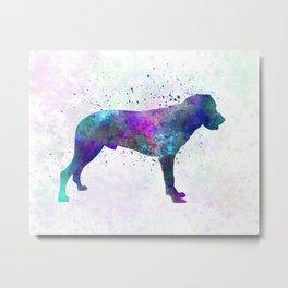Majorca Shepherd Dog in watercolor Metal Print