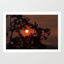 Framed Sun Art Print