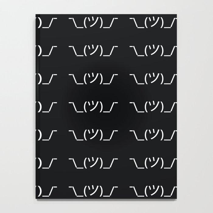 ¯\_(ツ)_/¯ Shrug - Black Notebook