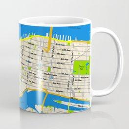 Manhattan Map Design Coffee Mug
