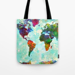 Abstract Map of the World Tote Bag