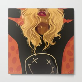 If Looks Could Kill (portrait of Daphney) Metal Print
