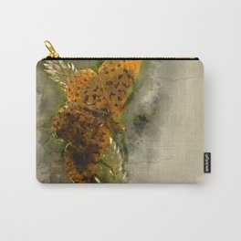 "Orange butterfly ""Boloria selene"" - watercolor Carry-All Pouch"