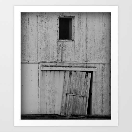 The Ole Shed Door Abstract Art Print