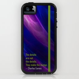 Abstract with Eames Quote iPhone Case