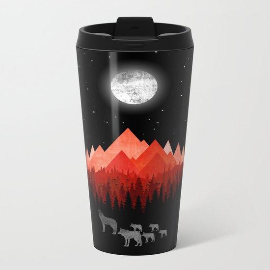 Wolfs Metal Travel Mug