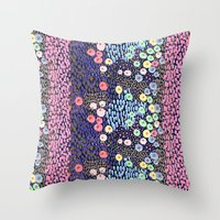bubble Throw Pillows featuring Bubble by moniquilla