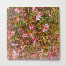 Abstract Flowers and Leaves Metal Print