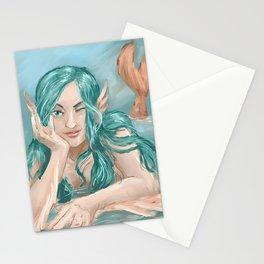 Aqua Blue  Stationery Cards